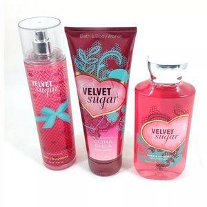 Bath Body Works Velvet Sugar Body Gel Cream Mist